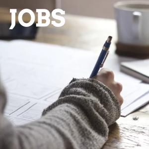"""""""Jobs"""" Schreibende Hand"""